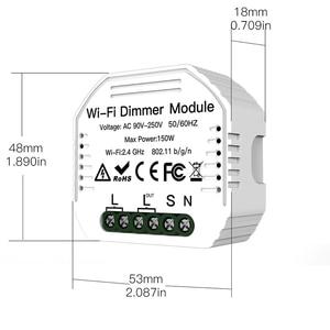 Image 2 - Lonsonho inteligente wi fi interruptor dimmer relé tuya módulo de automação residencial inteligente controle remoto compatível alexa google casa mini
