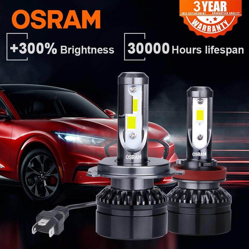 OSRAM H7 светодиодные лампы 12 В 6000K белые Противотуманные фары 9012 HIR2 HB2 9005 9006 HB3 HB4 светодиодные Автомобильные фары автомобильные аксессуары H11 h4 ...