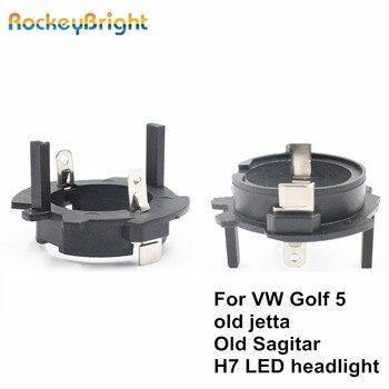 цена на Rockeybright H7 led headlight retainer clip for Volkswagen OldJetta Sagitar golf 5 led h7 adapter headlamp socket h7 bulb holder