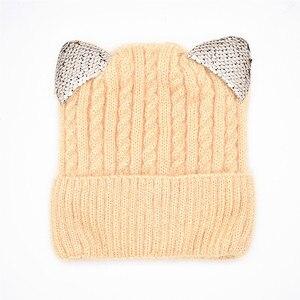 Image 5 - 新しい冬の帽子と冬の子供の帽子子供のための帽子とスヌードガールズボーイズ子供帽子発光猫耳