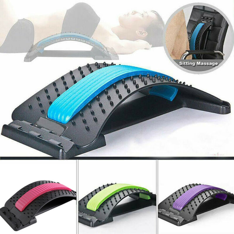 Magic Back Support Stretcher Spine Posture Corrector Massager Relief Lumbar Pain 1