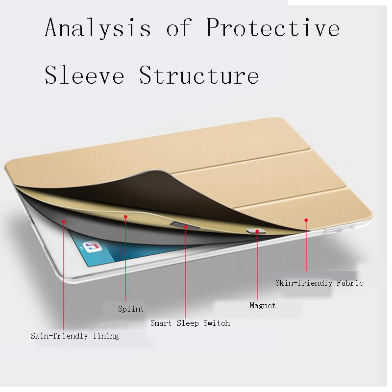 Case For iPad 8 10 2 inch 2020 PU Leather Trifold Stand Cover Smart Auto Wake