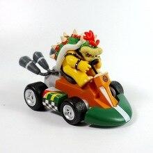 1/6/7PCS Super Mario Bros Kart Car Mario Luigi Kart Racing Car PVC Toys Kids Gift Home Decoration Red and white machine game