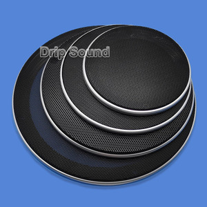 """Image 1 - For 4""""/5""""/6.5""""/8""""/10"""" Inch Speaker Conversion Net Cover Car Audio Decorative Circle Metal Mesh Grille Protection #Silver+Black"""