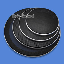 """For 4""""/5""""/6.5""""/8""""/10"""" inch Car Audio Speaker Conversion Net Cover Decorative Circle Metal Mesh Grille Protection #Silver+Black"""