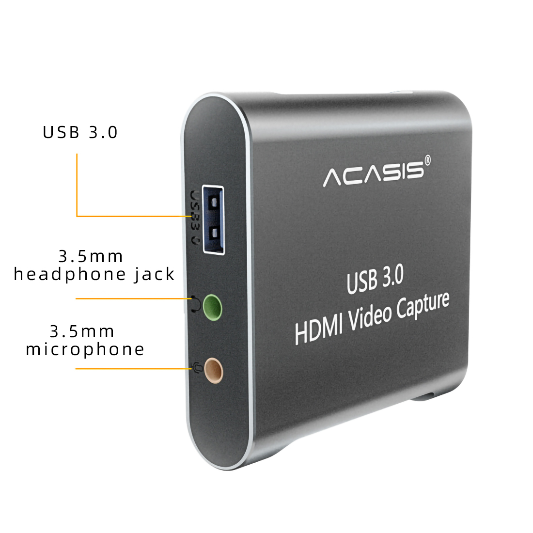 Acasis 4K 1080P Video Capture Card USB 3.0 HD Recorder for Game Video Live Streaming Compatible for PS4 Xbox PC Swich image
