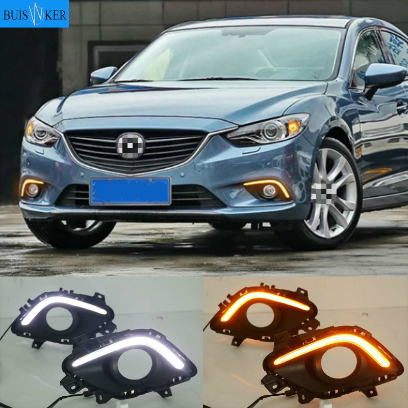 2 Pcs DRL For <font><b>Mazda</b></font> <font><b>6</b></font> Mazda6 Atenza 2014-2016 <font><b>LED</b></font> DRL Daytime Running <font><b>Lights</b></font> Daylight Fog <font><b>light</b></font> cover image
