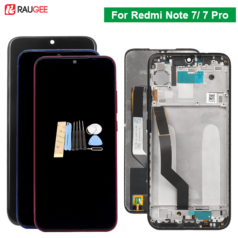Raugee Original Display For Xiaomi <font><b>Redmi</b></font> <font><b>Note</b></font> <font><b>7</b></font> Touch Screen Mult Touch Screen Replacement For <font><b>Redmi</b></font> <font><b>Note</b></font> <font><b>7</b></font> <font><b>Pro</b></font> Global Version image