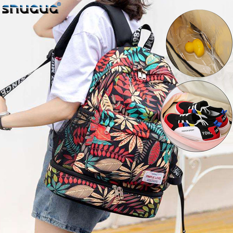 2019 Gym Backpack Woman Dry And Wet Fitness Backpack Women Waterproof Gym Bag Shoe Compartment Mujer Sac De Sport Gymtas Femme