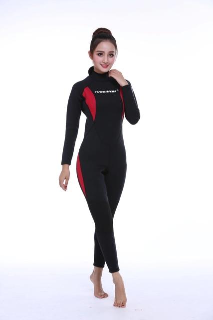 3MM 2019 New Style Women's Full Body Scuba Surfing Diving Wetsuits One-piece Jumpsuit Snorkeling Back Zip Wet Suit