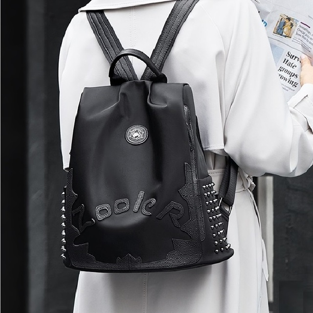 Zooler top Nylon &cowhide backpack luxury backpacks large capacity women backpack letter backpacks travel bags lady Bolsas#8395