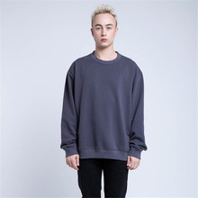 Пуловер, однотонный цвет, толстовки мужские, трендовый бренд, круглый вырез, осень, толстый хлопок, толстовка, свободный, хип-хоп, уличная одежда, DS50905