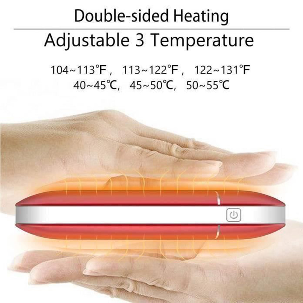 7800 MAh 5V Cute USB Rechargeable LED Electric Hand Warmer Heater Travel Handy Long-Life Mini Pocket Warmer Home Warming Product
