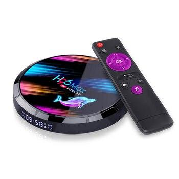 H96 X3 8K Android Smart TV-Box Amlogic S905X3 Quad Core Set Top BOX Media player Support 3D HDMI IPTV Netflix Youtube smart tv set top box amlogic s905x2 h96max x2 tv boxes 4gb64gb 1080p h 265 android8 1 tv box support youtube netflix tv boxing