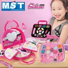 Beauty Fashion Toys Baby Cosmetics Pretend Play Make Up Toy Children Handbag Non-toxic Dressing Makeup Set Princess Girl Gifts