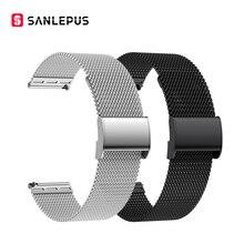 SANLEPUS 빠른 변경 유니버설 메쉬 스테인레스 스틸 시계 밴드 스포츠 스마트 워치 스트랩 Smartwatch 밴드 (22mm)