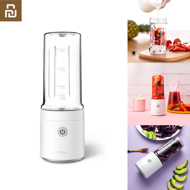Соковыжималка для фруктов Youpin Pinlo, 350 мл, портативная, USB, перезаряжаемая, чашка для извлечения сока, кухонная машина, мини, домашняя, уличная