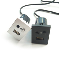Para ford focus mk2 usb/aux slot interfaces plug button + interface de cabo com mini adaptador de cabo usb acessórios