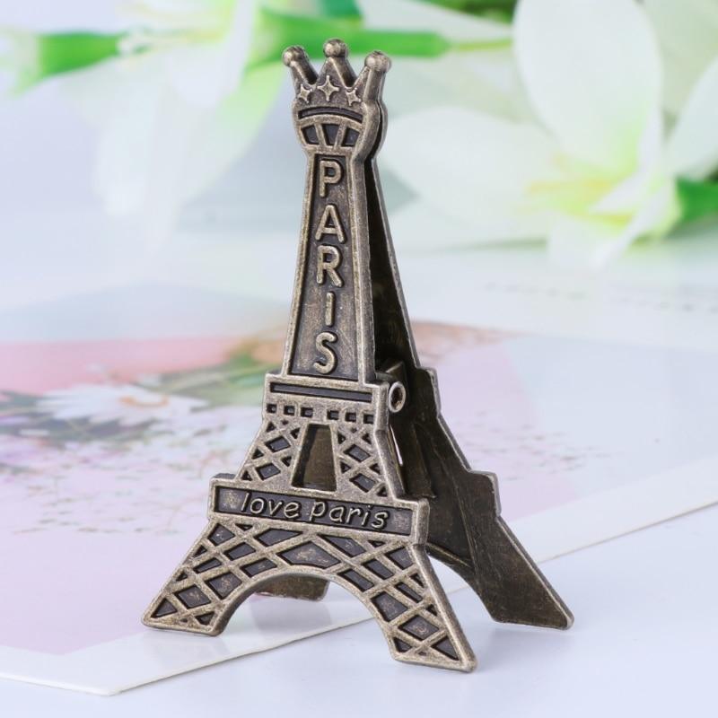 Vintage Eiffel Tower Paris Metal Memo Paper Clip For Message Decoration Photo DXAC