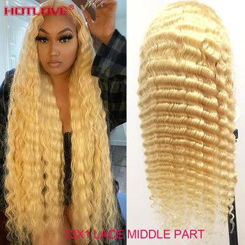 613 Honey Blonde 13x1 Lace Frontal Human Hair Wigs