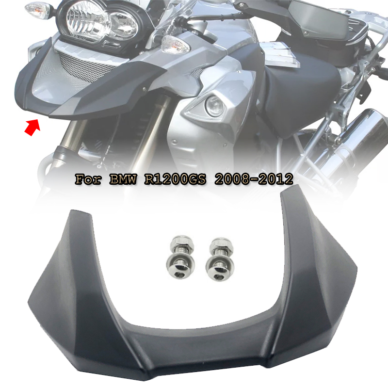 <font><b>R1200GS</b></font> Front Beak Fairing Extension Wheel Extender Cover Black For BMW R 1200 GS 1200GS 2008 2009 2010 <font><b>2011</b></font> 2012 Motorcycle image