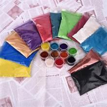 50 g/torba inci tozu kristal reçine pigmentler epoksi reçine renklendirici DIY dolgu renk boya renklendirme parlak toz parçacıkları renk tozu