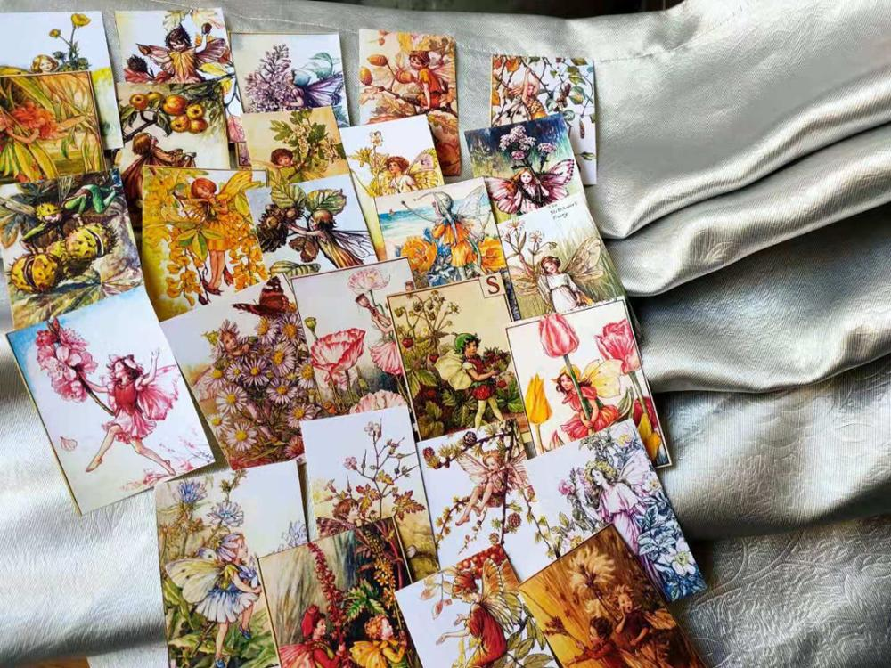27 PCS\SET Flower Fairy Alice Elf Flower Forest Angel Material Scrapbooking DIY Projects Photo Album Diary Stickers Stationery