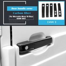 Dry Carbon Fiber Door Handle Cover Trim for Mercedes Benz G Class W463 G55 G63 G500 G550 Car Accessories Decoration 5pcs/set led drl daytime running light for benz w463 g500 g55 g class amg g63 g65 driving light