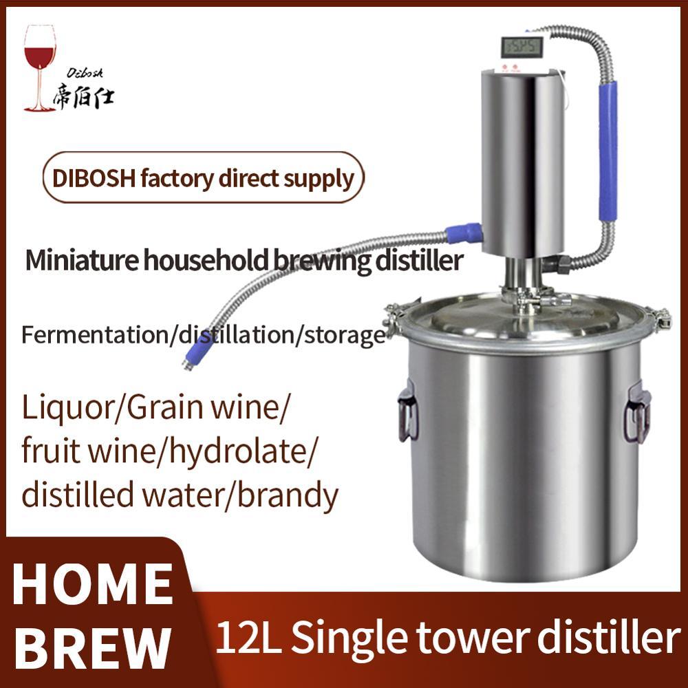 Миниатюрный дистиллятор 12 л, семейный ферментный перегонный аппарат для изготовления виски, бренди, водки, семейный маленький дистиллятор