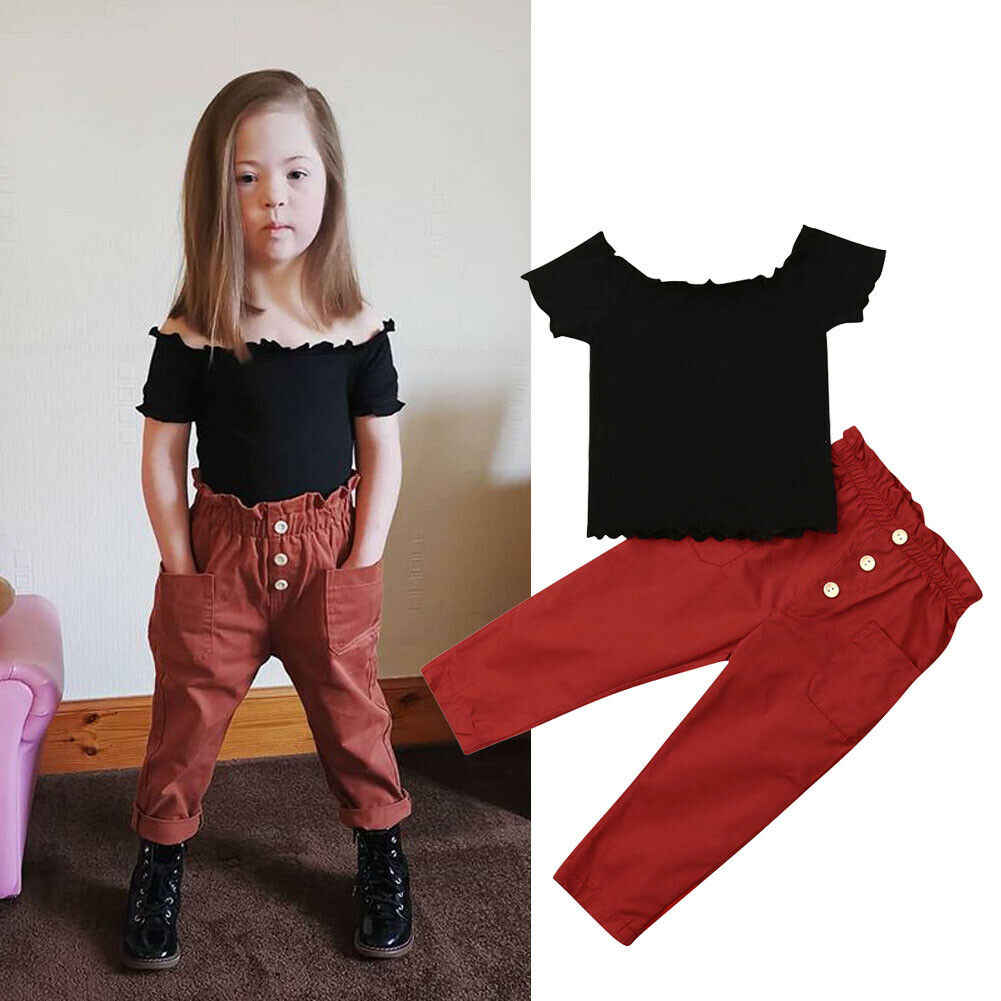 Toddler Kid Baby Girl Outfit Clothes T-Shirt Tops Pants Leggings Casual 2Pcs Set