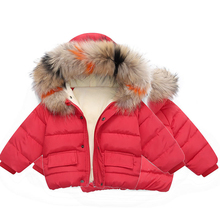 Baby Girls Clothes Fashion Jackets Fur Collar Hooded Thick Warm Coats Casual Outwear Windbreaker Children