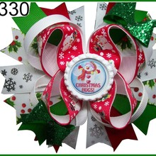 E 120 шт рождественские банты для волос карамельный тростник бант Санта заколка для волос олень праздник веселая Рождественская бабочка-B
