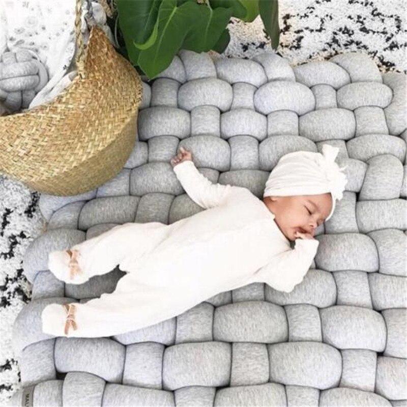 Bébé tapis de jeu jouets pour enfants INS tresse bande tissage noué enfants tapis Puzzle ramper Gym Pad enfants tapis chambre décor 85x70cm