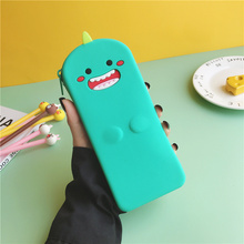 Q UNCLE Pencil Case Quality Silicone School Supplies Stationery Gift Pencilcase Cute Box Creative Tools Bag