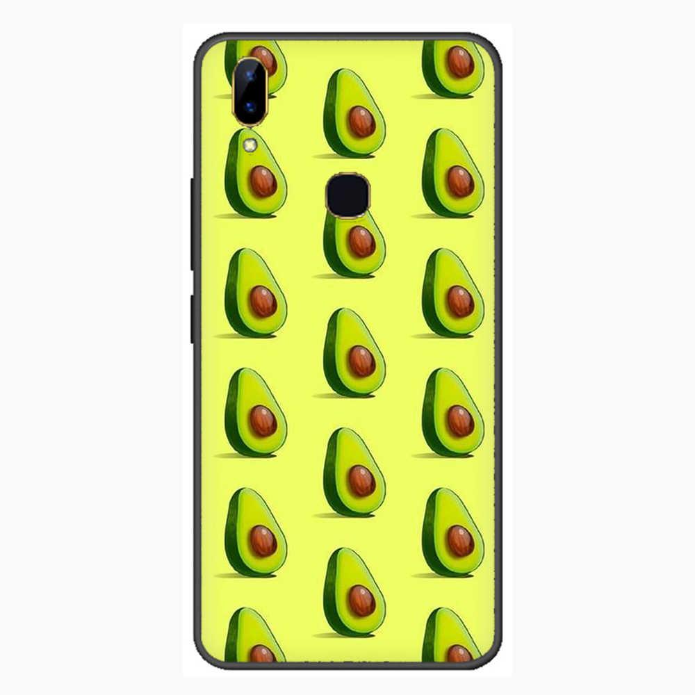 Awokado estetyczne Gteen owoce żywności telefon etui na VIVO Y81 V5 V7 V9 V11 V15 Pro Y17 Y69 Y71 Y91 Y93 Y66 X9 Y11 U3 Y5S