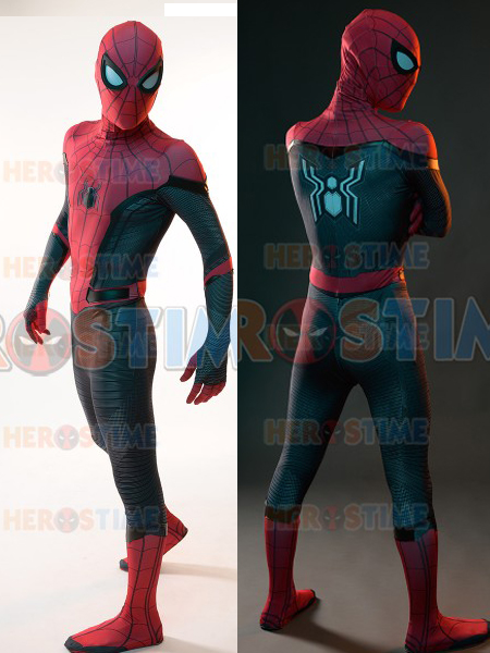 Spider-Man Far From Home Spiderman Costume 3D Print Spandex Zentai Bodysuit  Cosplay Spiderman Superhero Costume Hot Sale