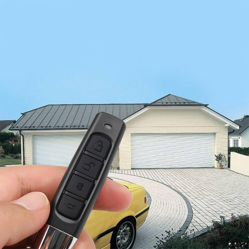 433MHz Cloning Remote Control Electric Car Key Fob Copy Controller Transmitter Switch 4 Buttons Wireless Remote Control Alarm