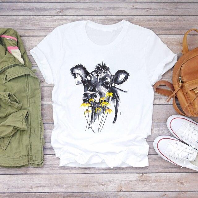 Фото футболка женская с графическим принтом мультяшная акварельная цена