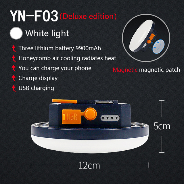 9900mAh LED Tent Light Rechargeable Lantern Portable Emergency Night Market Light Outdoor Camping Bulb Lamp Flashlight Home 6