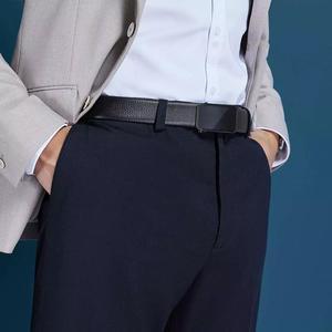 Image 5 - Youpin qimian男性ベルトメンズ牛革レザーストラップナッパ男性ファッション 35 ミリメートルマットミラーバックルウエストベルト