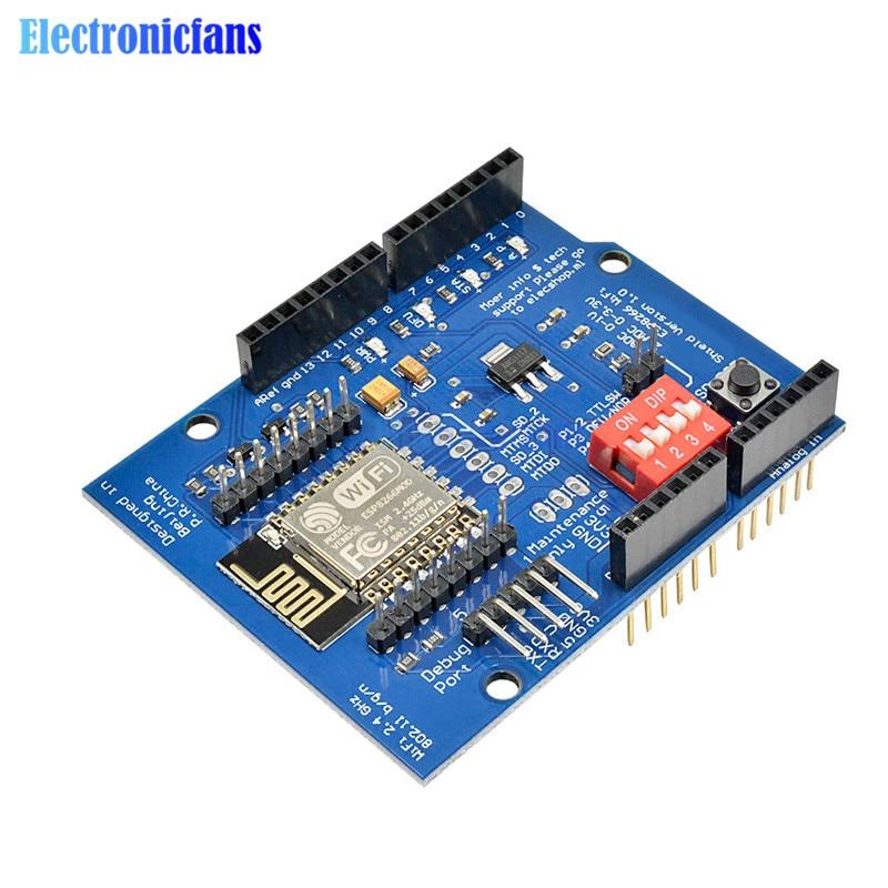 ESP8266 ESP-12E UART WIFI Wireless Shield Development Board For Arduino UNO R3 Circuits Boards Modules ONE