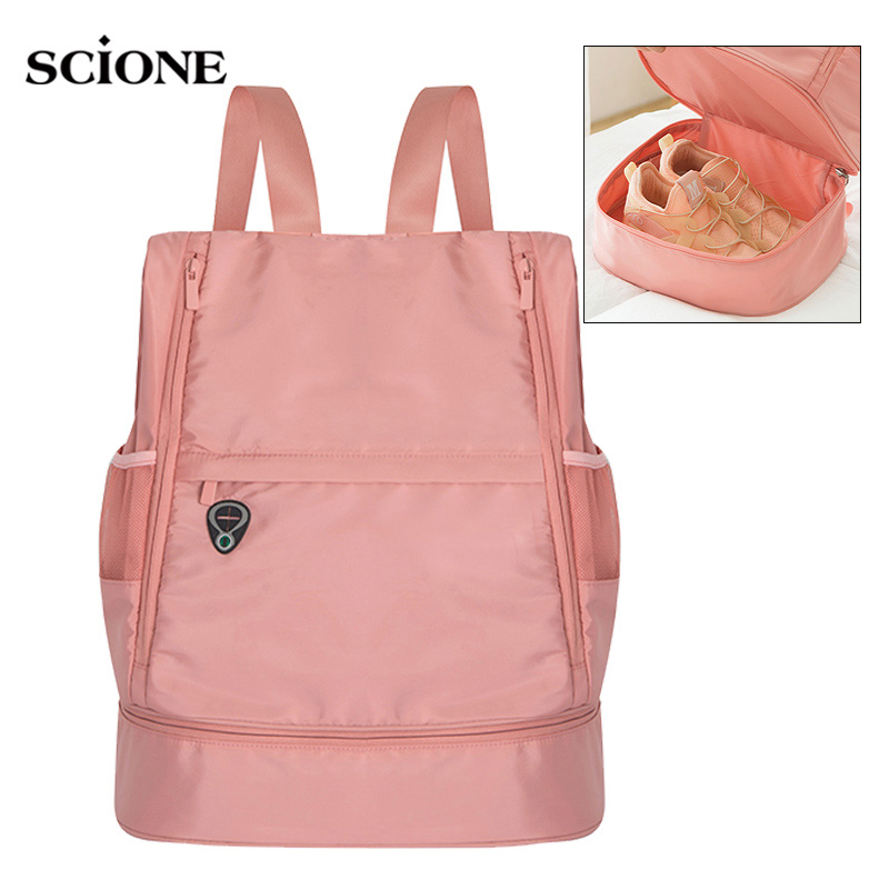 Gym Backpack Women Fitness Bags For Shoes Dry Wet Bag Handbag Gymtas Femme Tas Sac De Sport Mochila Swimming Sports 2019 XA871WA