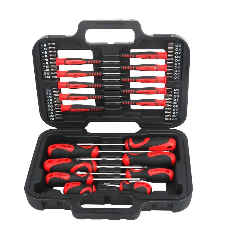 58 pièces tournevis de précision jeu de bits tournevis magnétique Kit d'outils de réparation maison boîte à outils pour téléphone ordinateur réparation outil à main