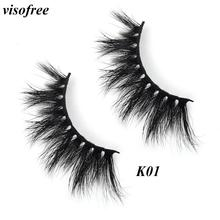 Visofree Eyelashes Mink Cruelty Free 3D Lashes Reusable Thick False Makeup Extension Eyelash Tools K01