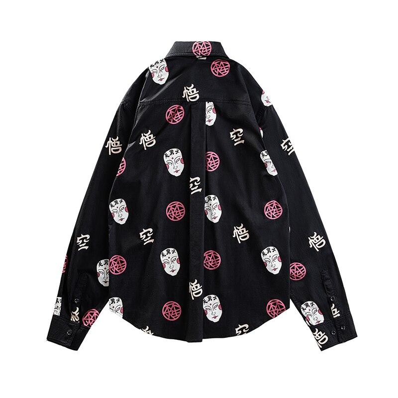 Women Men Shirts Casual Fashion Lapel Print Long Sleeve Shirt Top Blouse High Quality Males Social Shirts Comfortable Plus Size
