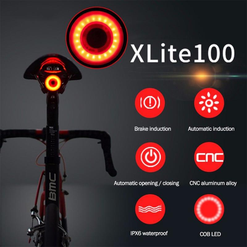 Taillight Bike Sensing Cycling Led-Charging XLITE100 Rear 400mah New IPX6 Auto-Start-Brake title=