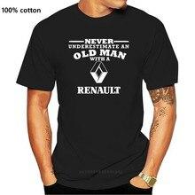 Renault Never Underestimate an Old Man Mens T Shirt Size S - 5XL Black T shirt 2019 fashion t shirt 100% cotton tee shirt