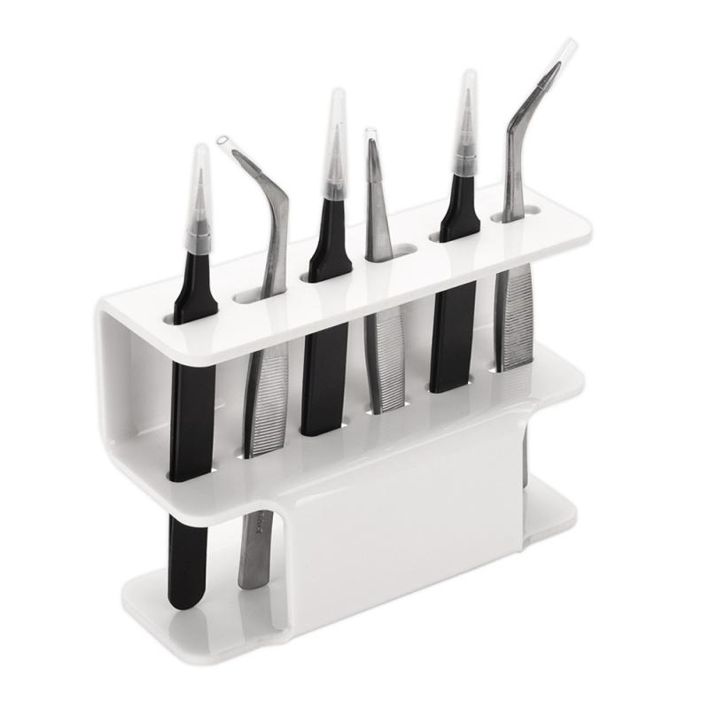 1 Pcs Tweezer Storage Rack Acrylic Tweezers Bracket Storage Rack Display Stand Eyelashes Shelf Holder Tweezer Storage Tool Shelf