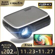 Реальный ТВ M8S Full HD 1080P проектор 4K 7000 люмен кинопроектор Android WiFi Airplay HDMI VGA AV USB с подарком