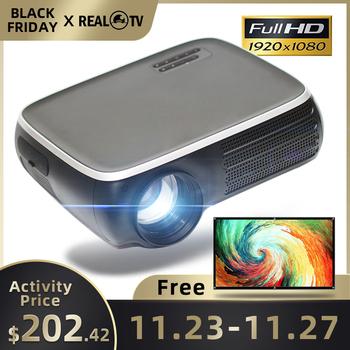 REAL TV-Projektor M8S Full HD 1080P 4K 7000 lumenów kino Android WiFi HDMI VGA AV USB z prezentem tanie i dobre opinie Poner Saund Instrukcja Korekta CN (pochodzenie) Projektor cyfrowy 4 3 16 9 180W Focus 1920x1080 dpi M8S M8S-W 50-300 cali